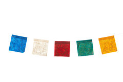 Buddhism flags in a row Stock Photography
