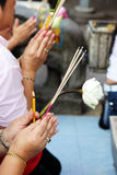 Buddhism hands Stock Image