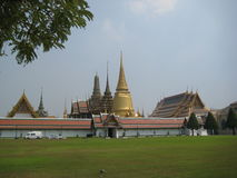 The Buddhism historic center of the city in Thailand Bangkok royalty free stock photo
