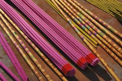 Buddhism incense sticks Royalty Free Stock Image