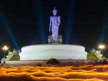 Buddhism light waving rite Royalty Free Stock Photography