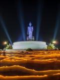 Buddhism light waving rite Royalty Free Stock Photography