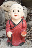 Buddhism monk sculpture Stock Image