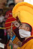 Buddhism Monks at a Praying Ceremony in Dharamsala Royalty Free Stock Images