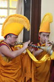 Buddhism Monks at a Praying Ceremony in Dharamsala Royalty Free Stock Photos