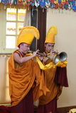Buddhism Monks at a Praying Ceremony in Dharamsala Stock Image