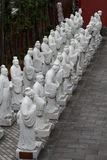 The 72 followers statues Stock Photography