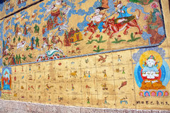Buddhism Paintings Wall Lijiang Stock Photography