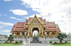 Buddhism pavilion in bangkok Stock Photo