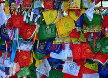 Buddhism prayer flags lungta Royalty Free Stock Image