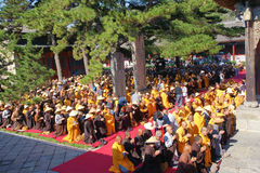 Buddhism religious ceremony Stock Image