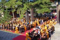 Buddhism religious ceremony stock image