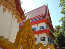 Buddhism and  roof of  pavilion at Wat Ubonboratip. Atsamat thailand Stock Photos