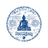 Buddhism rubber stamp royalty free illustration