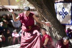 Buddhism Scriptures Debating lamas Royalty Free Stock Photo