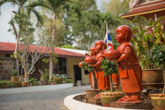 Buddhism. Sculpture at trat provice of thailand Stock Image