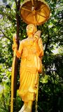 Buddhism. Statue phrase admirable calm worthy of respect Royalty Free Stock Image