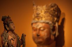 Buddhism statues in China National Museum. From Song dynasty A.D 960-1279 Royalty Free Stock Images
