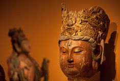Buddhism statues in China National Museum. From Song dynasty A.D 960-1279 Royalty Free Stock Image