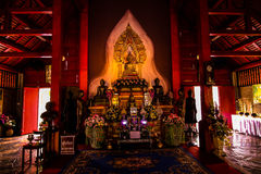 Buddhism. Statues of Buddhism in Temple in Lampang province of Thailand Royalty Free Stock Images