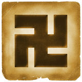 Buddhism swastika buddha sign old paper Royalty Free Stock Photo