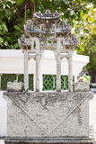 Buddhism symbolic sculpture. Royal Palace, Bangkok, Thailand. Royalty Free Stock Photo