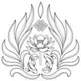 Buddhism Symbols Pattern Stock Images