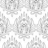 Buddhism Symbols Seamless Pattern Stock Image