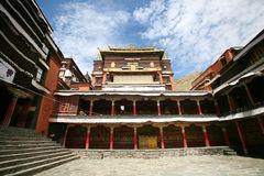Buddhism Tashilhunpo Monastery in tibet. Tashilhunpo Monastery  founded in 1447 by Gendun Drup, the First Dalai Lama,[1] is a historic and culturally important Stock Photo