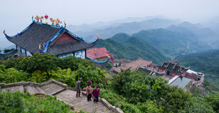Buddhism Temple on the mountain Stock Photos