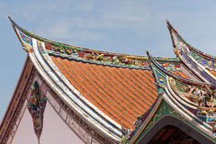 Buddhism temple roof. Cheng Hoon Teng buddhism temple roof, Melaka, Malaysia royalty free stock images
