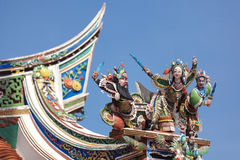 Buddhism temple roof Royalty Free Stock Photo