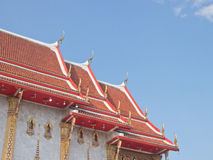 Buddhism temple roof top Royalty Free Stock Photos