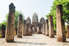 Buddhism temple ruins Royalty Free Stock Photos