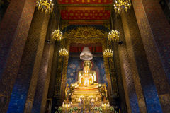 Buddhism temple,Thailand. Principle Buddha image in a temple Royalty Free Stock Photo