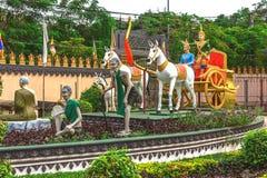 Buddhism temples Prumrot Vat, Siem Reap, Cambodia Stock Photos