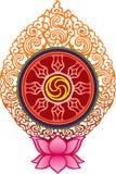 Buddhism tibetano rotella-Turner illustrazione vettoriale