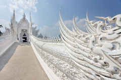 Buddhism white temple Royalty Free Stock Photo