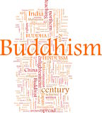 Buddhism word cloud Royalty Free Stock Image