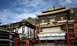 buddhismtashilhunpotempel tibet Royaltyfria Bilder