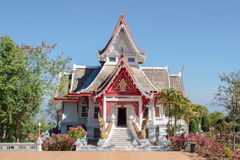 The buddhismTemple View is beautiful at Chiang Rai, Thailand. The buddhism Temple View is beautiful at Chiang Rai, Thailand. the peaceful place for my holiday Stock Photography