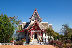 The buddhismTemple View is beautiful at Chiang Rai, Thailand. The buddhismTemple View is the beautiful and peaceful places at Chiang Rai, Thailand Royalty Free Stock Image