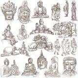 Buddhismus - freihändig skizzierend stock abbildung