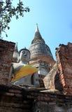 Buddhismus im thailändischen Tempel lizenzfreies stockbild