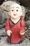 Buddhismusmönchskulptur Stockbild