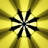 Buddhismusradsymbol-Leuchtehalo Lizenzfreie Stockbilder