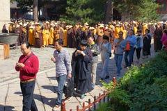 Buddhismusreligiöse feier Stockbild