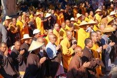 Buddhismusreligiöse feier Stockfotos