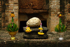 Buddhist Altar. Altar in the Buddhist temple in Ayutthaya, Thailand Royalty Free Stock Image