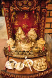 Buddhist altar for gods. In restaurant in Cambodia Stock Photos